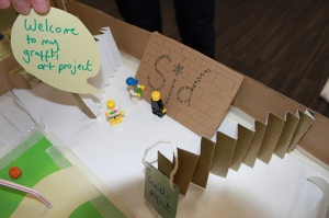 A prototype build from odd materials at the 2012 Newcastle jam. Photo by Justing Souter.
